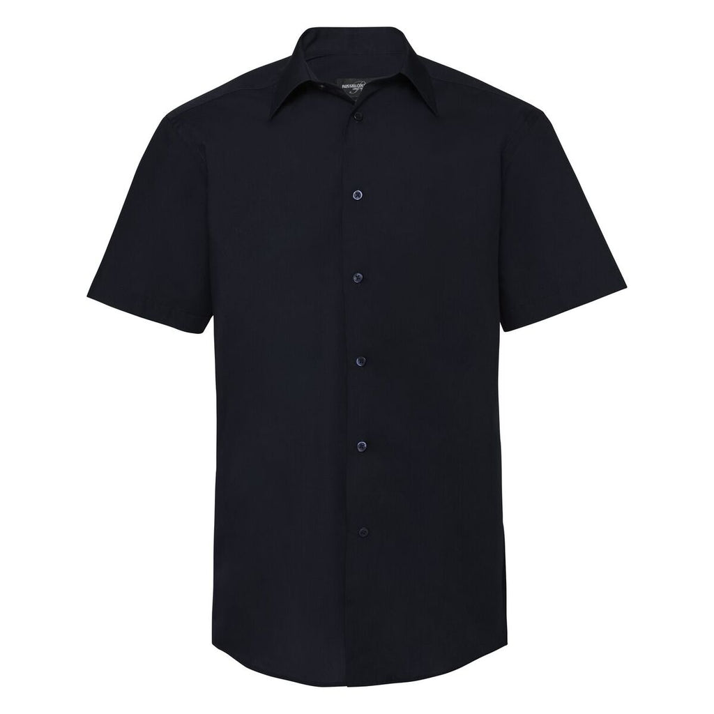R925M - Men's Short Sleeve PolyCotton Easy Care Tailored Poplin Shirt