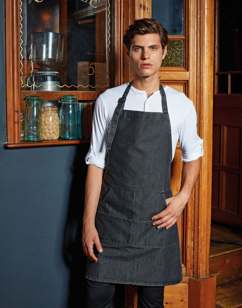 PR126 - Jeans Stitch Denim Bib Apron