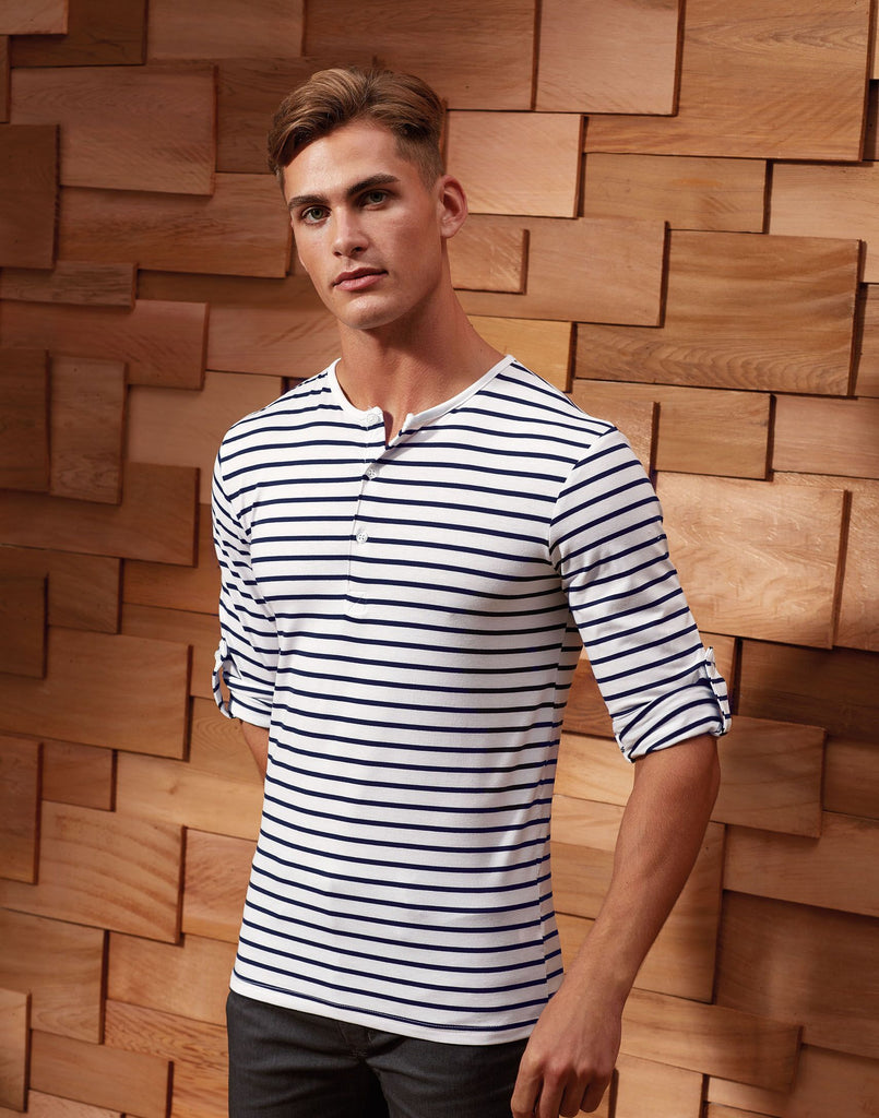 PR218 - Mens Long-John Roll Sleeve Tee