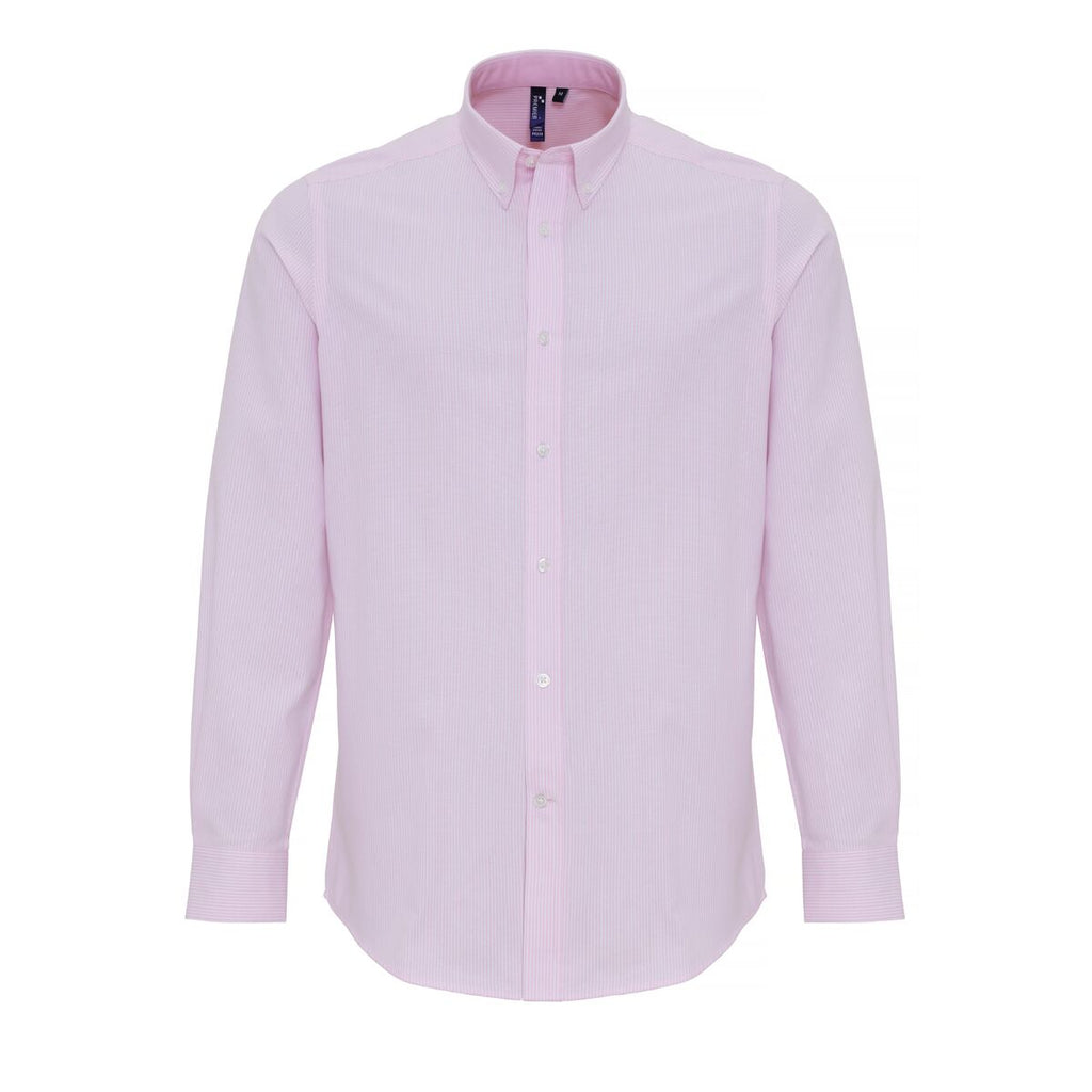PR238 - Men's Cotton-Rich Oxford Stripes Shirt