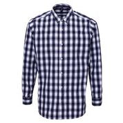 PR250 - Mens Long Sleeve Mulligan Check Cotton Bar Shirt