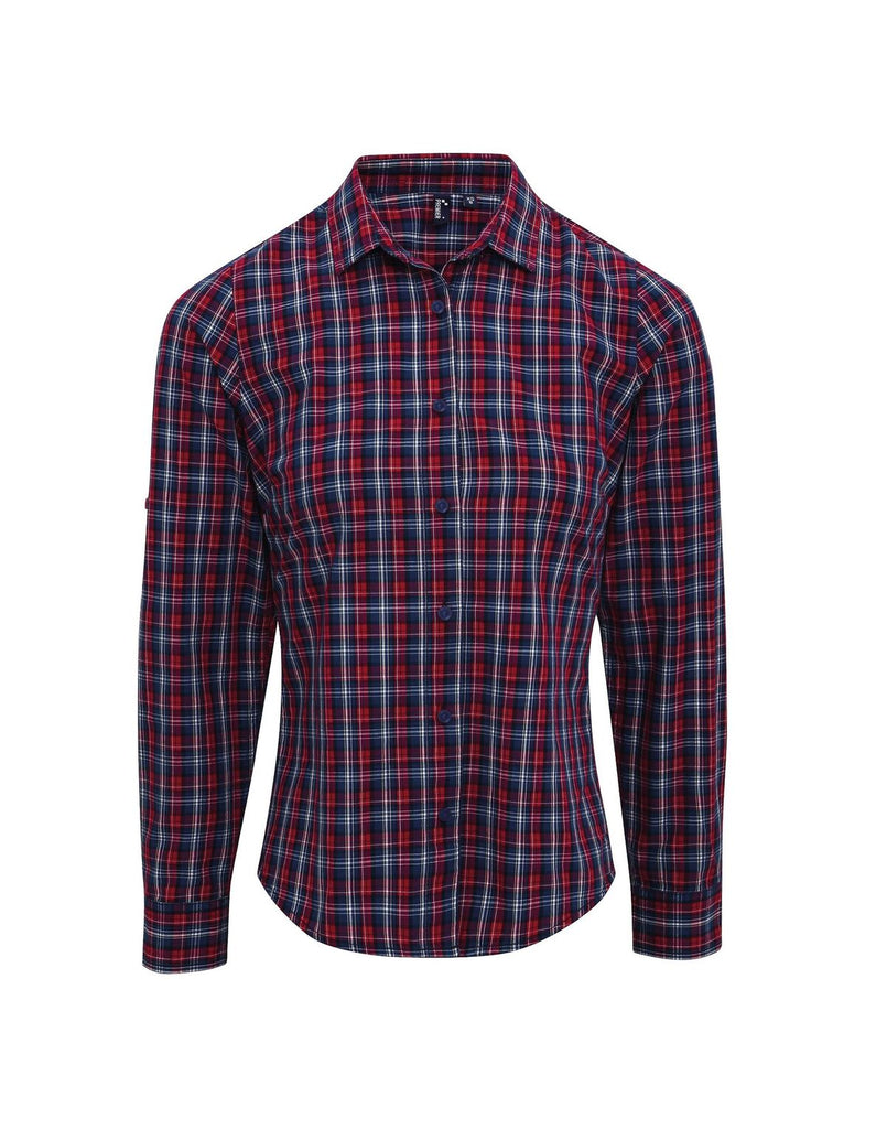 PR356 - Ladies Long Sleeve Sidehill Check Cotton Bar Shirt