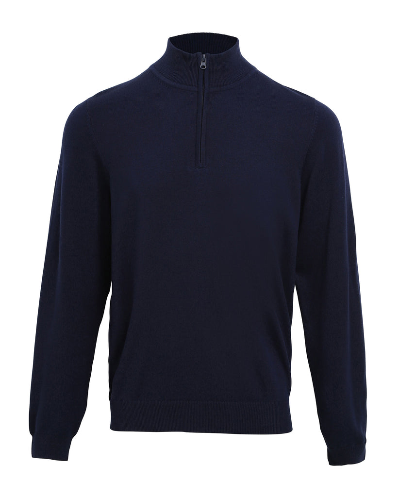 PR695 - Mens 1/4 Zip Knitted Sweater Cotton/Acrylic