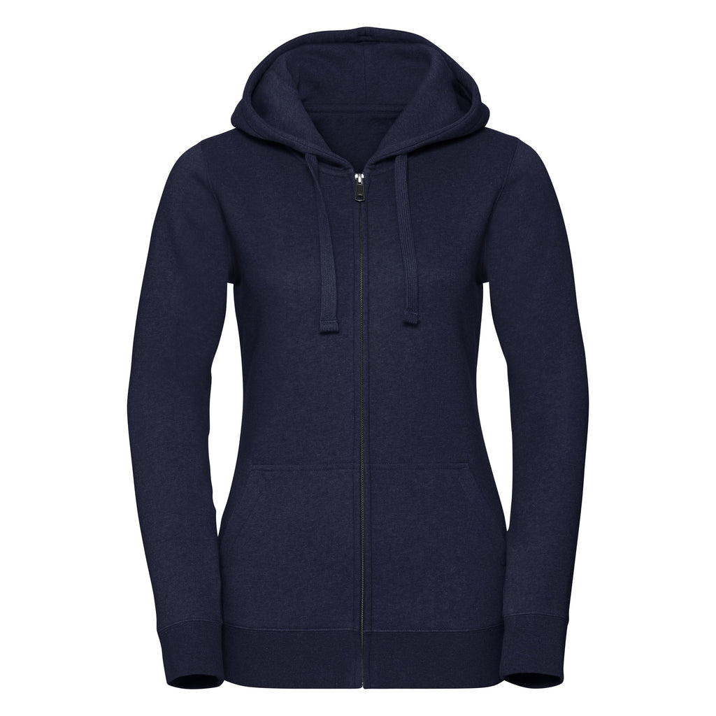 R263F - Ladies Authentic Melange Zipped Hooded Sweat