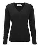 R710F - Ladies' V-Neck Knitted Pullover