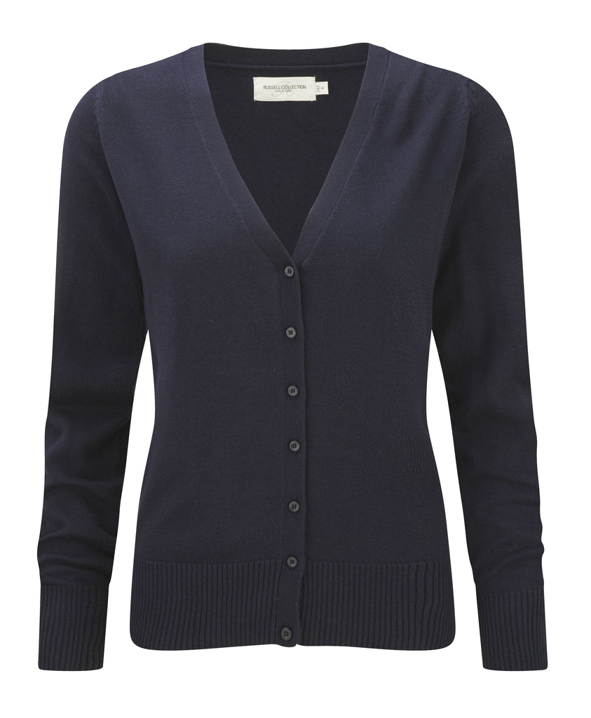R715F - Ladies' V-Neck Knitted Cardigan