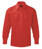 R934M - Men's Long Sleeve PolyCotton Easy Care Poplin Shirt