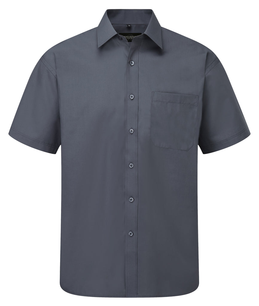 R935M - Men's Short Sleeve PolyCotton Easy Care Poplin Shirt