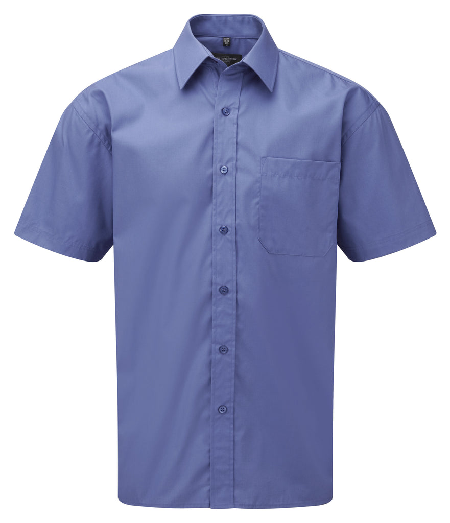 R937M - Men's Short Sleeve Pure Cotton Easy Care Poplin Shirt