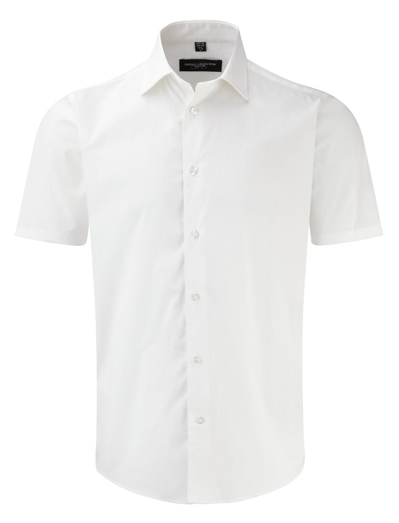 R947M - Men's Short Sleeve Easy Care Fitted Shirt
