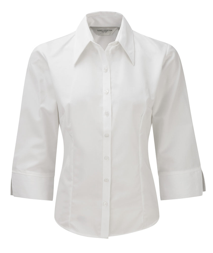 R954F - Ladies' 3/4 Sleeve Tencel Fitted Shirt