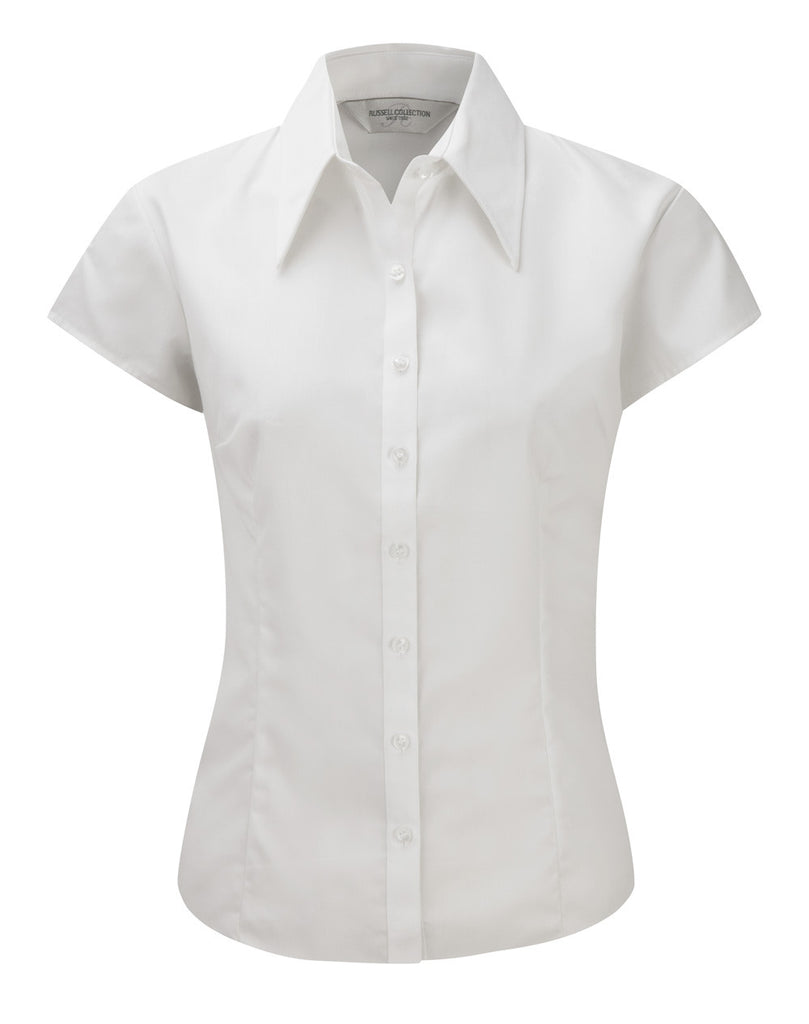 R955F - Ladies' Cap Sleeve Tencel Fitted Shirt