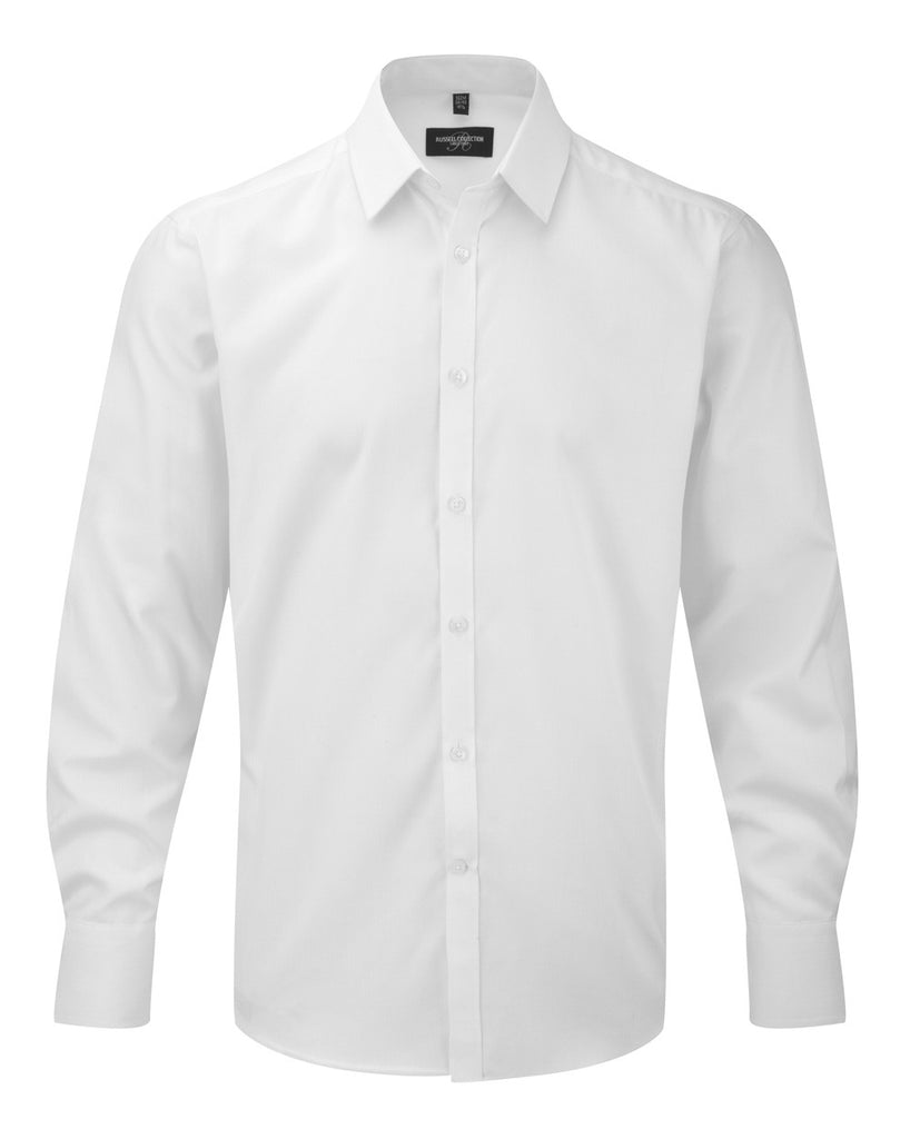 R962M - Men's Long Sleeve Herringbone Shirt