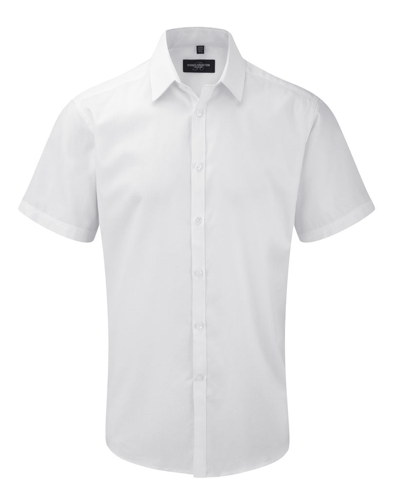 R963M - Men's Short Sleeve Herringbone Shirt
