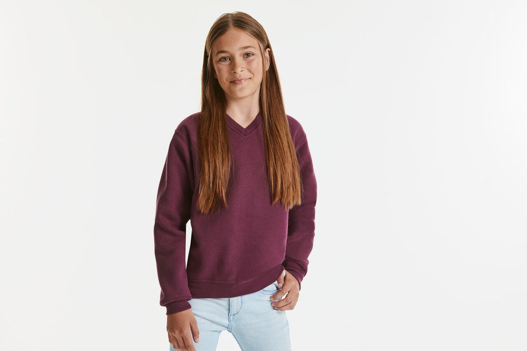 R272B - Children's V-Neck Sweatshirt