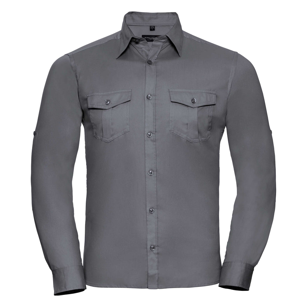 R918M - Men's Roll Sleeve Shirt - Long Sleeve