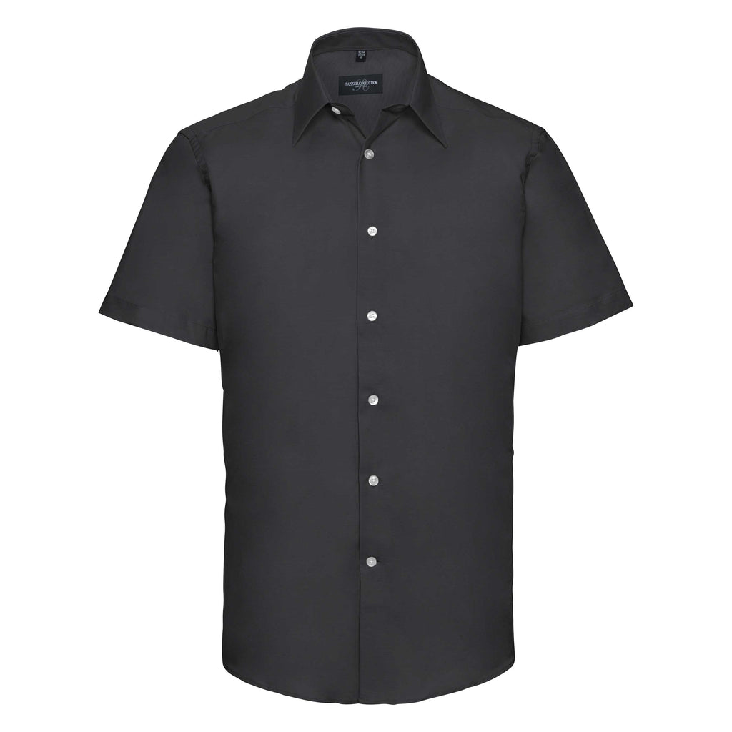 R923M - Men's Short Sleeve Easy Care Tailored Oxford Shirt