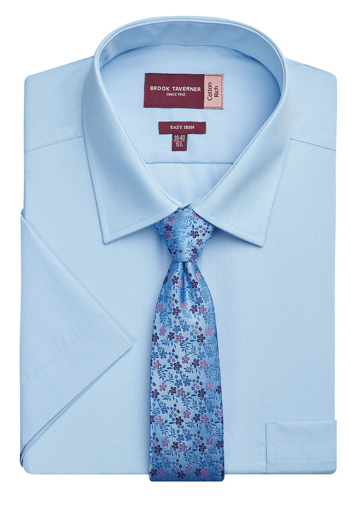 BT7541 - Rosello Classic Fit S/S Mens Shirt Cotton Rich Easy to Iron