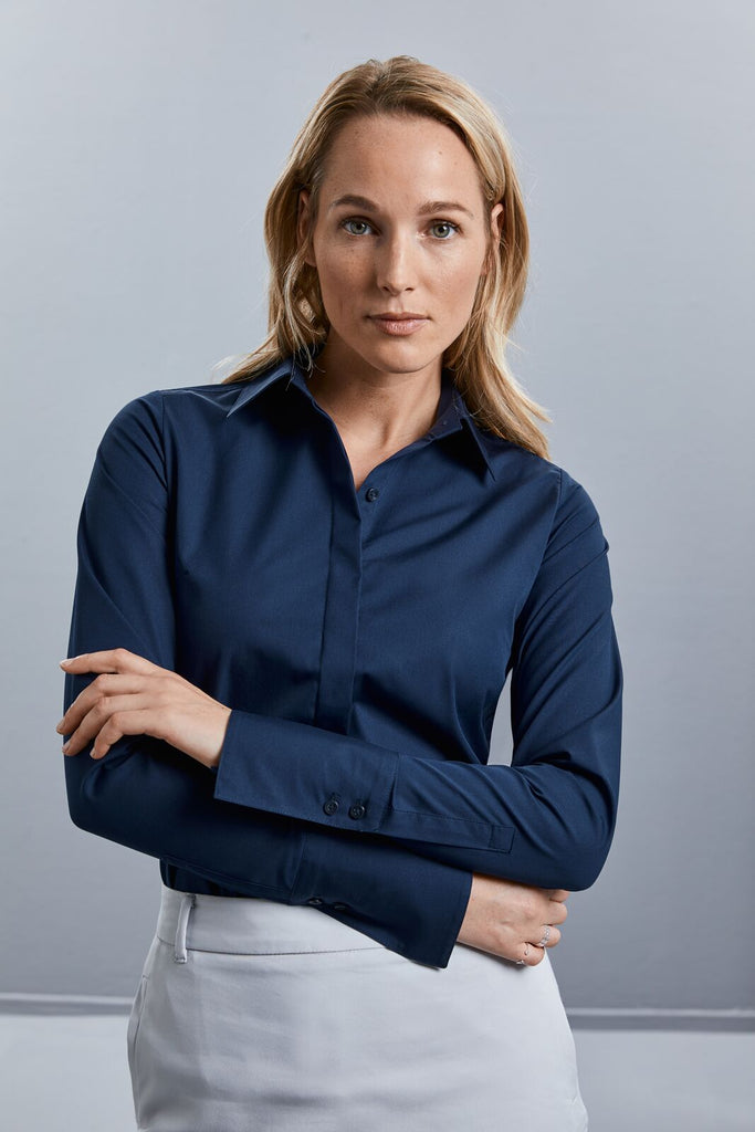 R960F - Ladies' Long Sleeve Ultimate Stretch