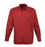 PR200 Colours Poplin Long Sleeve Shirt