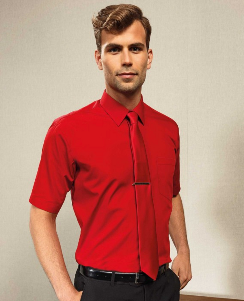 PR202 - Colours Poplin Short Sleeve Shirt