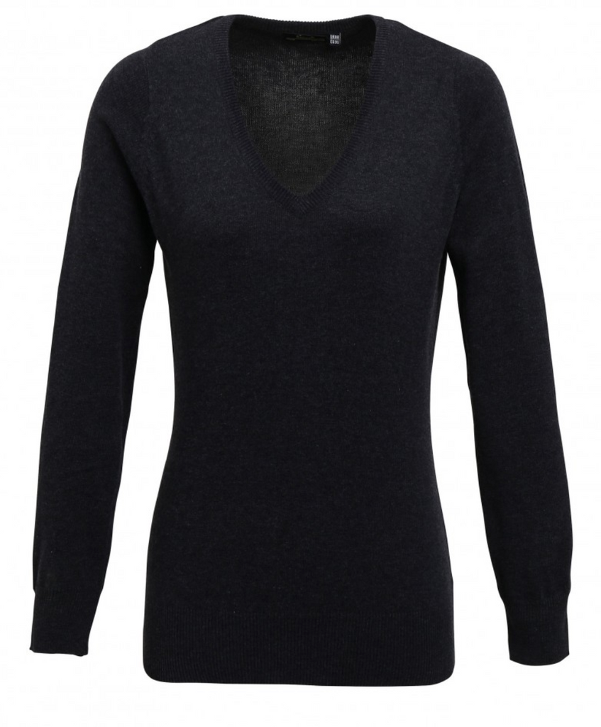 PR696 - Ladies V Neck Knitted Sweater