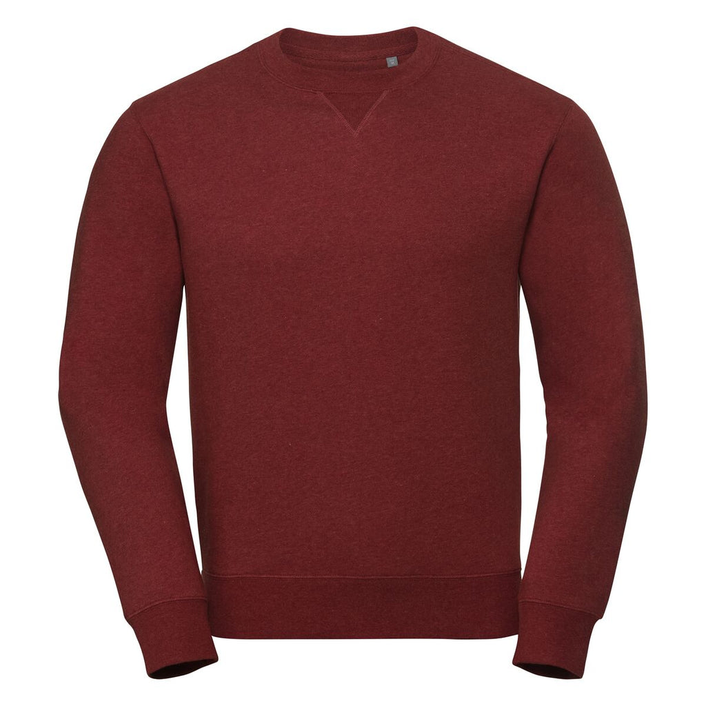 R260M - Adults Authentic Melange Sweat Burgundy