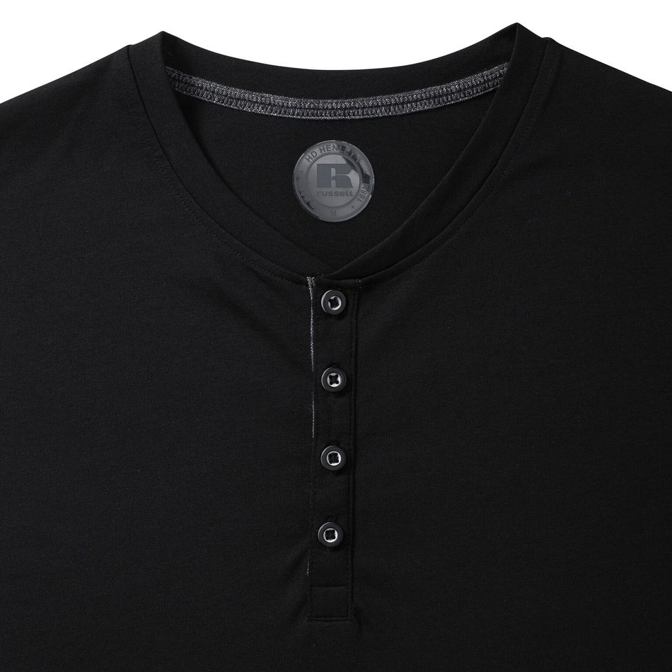 R168M - Men's Henley HD Tee