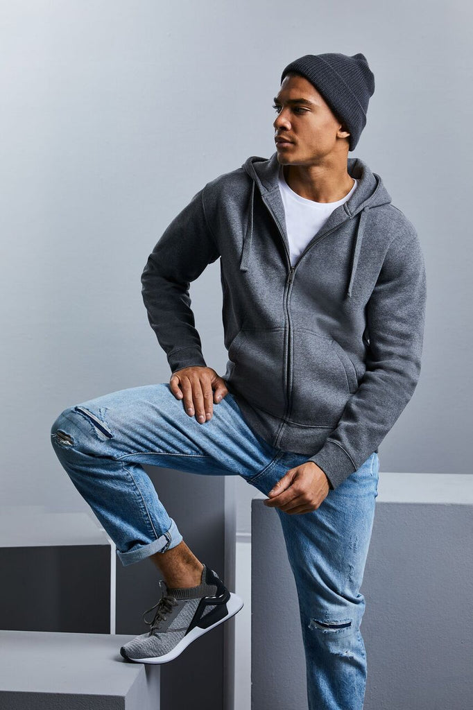 R263M - Men's Authentic Melange Zipped Hooded Sweat