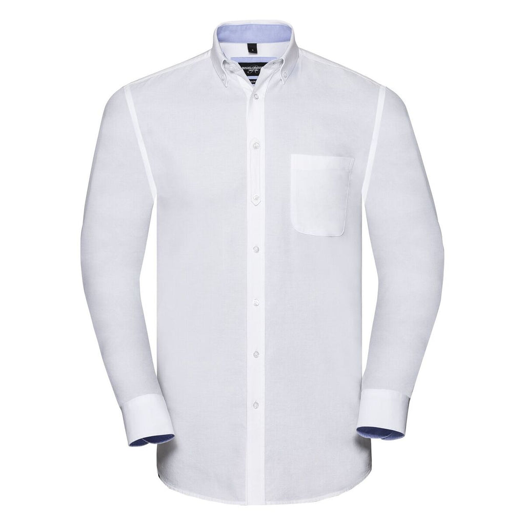 R920M - Men's L/S Tailored Washed Oxford Shirt