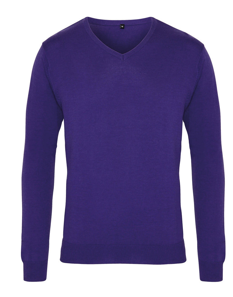 PR694 - Mens V Neck Knitted Sweater