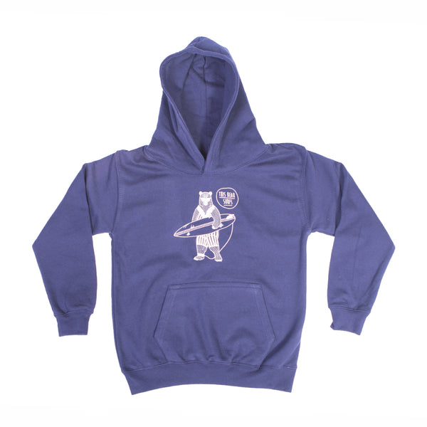 This Bear Surfs Kids Hoodie - Navy