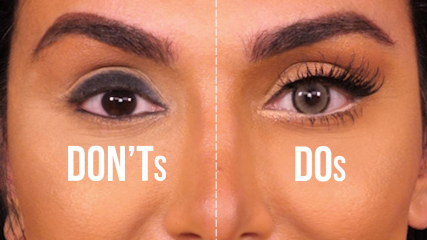 Revealed: How Huda Beauty uses contact lenses to instantly make her eyes look bigger!
