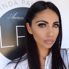 Anesthesia Lenses Australia Dream Green on @lucindapanarellomakeup