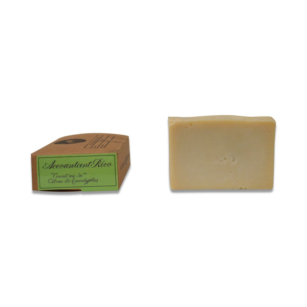 Accountant Rico Soap Bar - Comfrey, Mandarin, Eucalyptus & Lemongrass - 120grams