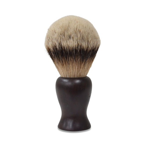 Handmade Badger Hair Shaving Brush - 28mm Silvertip Premium: Australian Ancient Redgum