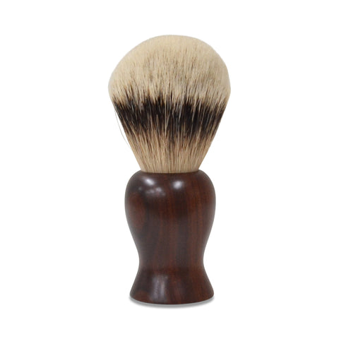 Handmade Badger Hair Shaving Brush - 24mm Silvertip Premium: Australian Ringed Gidgee