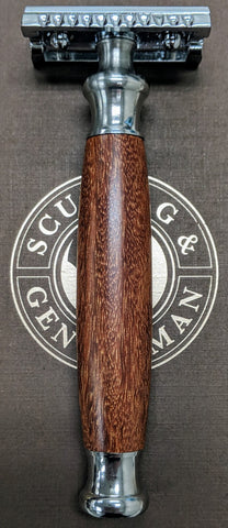 Handmade Double Edge Razor: Australian Cooktown Ironwood