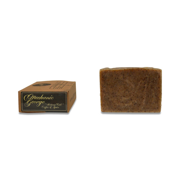 Mechanic George Organic Soap Bar - Coffee, Orange, Petitgrain & Bergamot  - 120grams