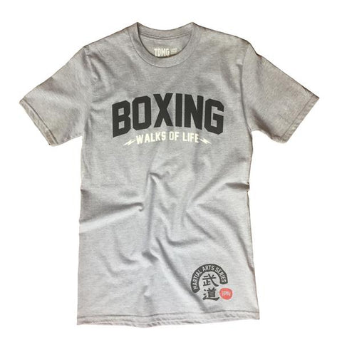 TDMG MARTIAL ARTS SERIES BOXING TEE GREY