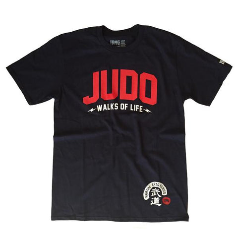 TDMG MARTIAL ARTS SERIES JUDO TEE NAVY