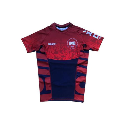 TDMG THE WAY RASHGUARD SHORT LEEVES RED/BLUE