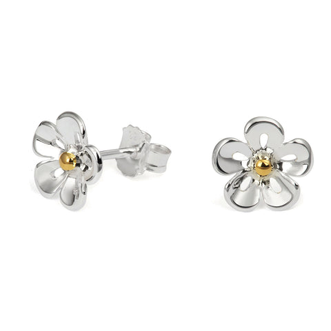 Open Petal Daisy Stud Earrings