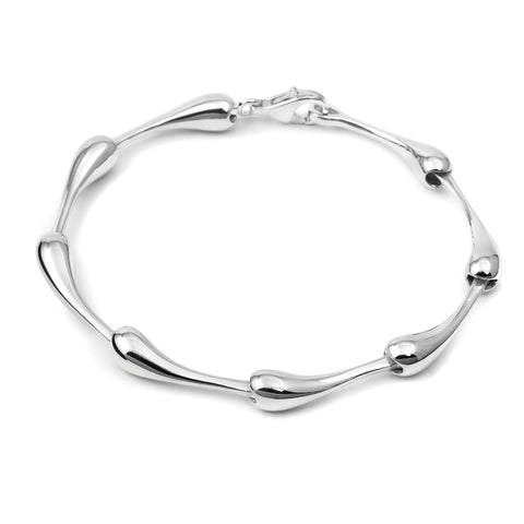 Totty Sterling Silver Shaped Bracelet