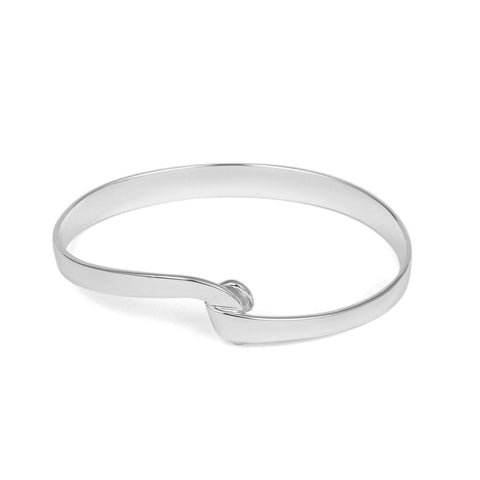 Silver Knot Bangle | TBL342