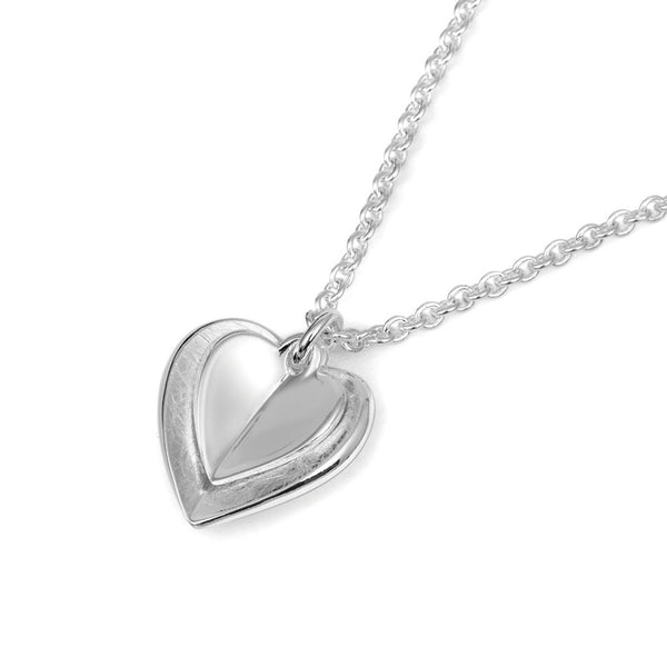 Sterling Silver Double Heart Necklace | TN3508
