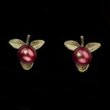 Cranberry Stud Earrings | MM/4408BZCR