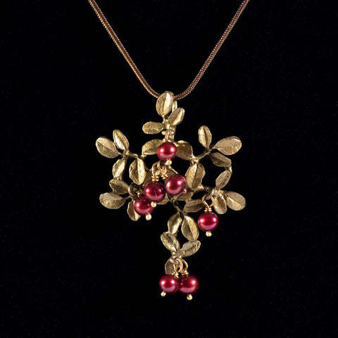 Cranberry Pendant & Chain