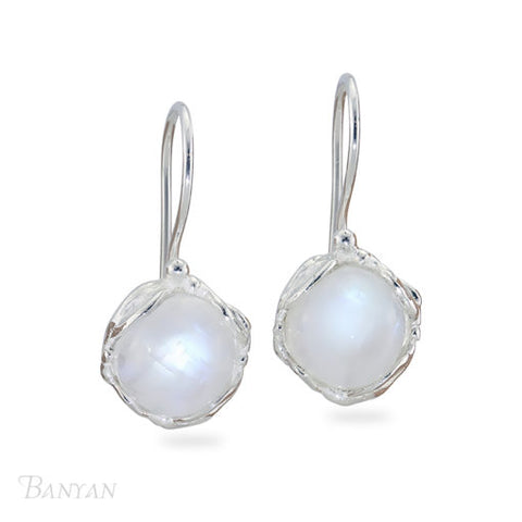 Moonstone Round Drop Earrings | BAN/EA1206