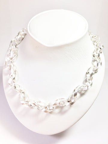Silver Curly Link - Necklace